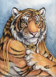 Tiger Portrait by Goldenwolf