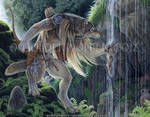Sacred Waters - Original by Goldenwolf