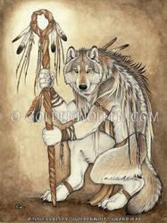 Medicine Wolf by Goldenwolf
