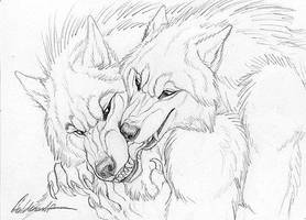 Cuddly Couples - Werewolves01 by Goldenwolf