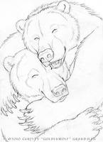 Cuddly Couples - Bears 01 by Goldenwolf