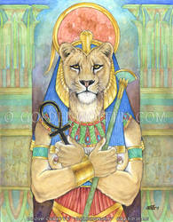 Sekhmet by Goldenwolf