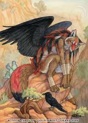 Desert Perch by Goldenwolf