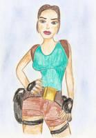 TR5 Lara Croft drawing by Badty92