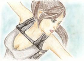 TRU Lara Croft drawing by Badty92