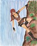 Lara Croft painting by Badty92