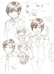 Artemis Fowl Doodles: Series I by XippyRin