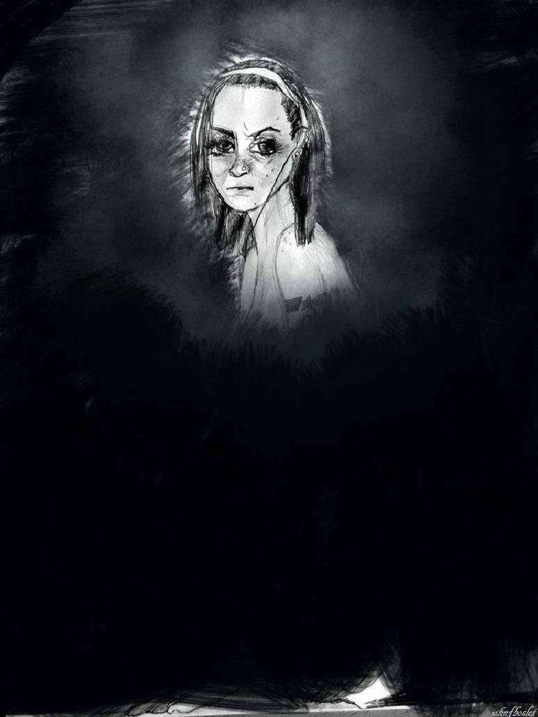 girl and darkness by JOHNNYFB