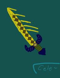 Gilded sword by raja1057