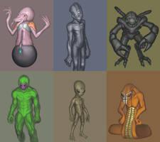X-Com UFO aliens by I2ebis