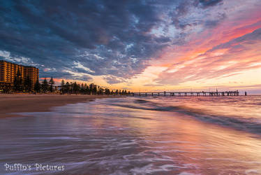 Glenelg Beach by tuftedpuffin