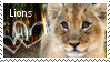 lion stamp by muddyputty