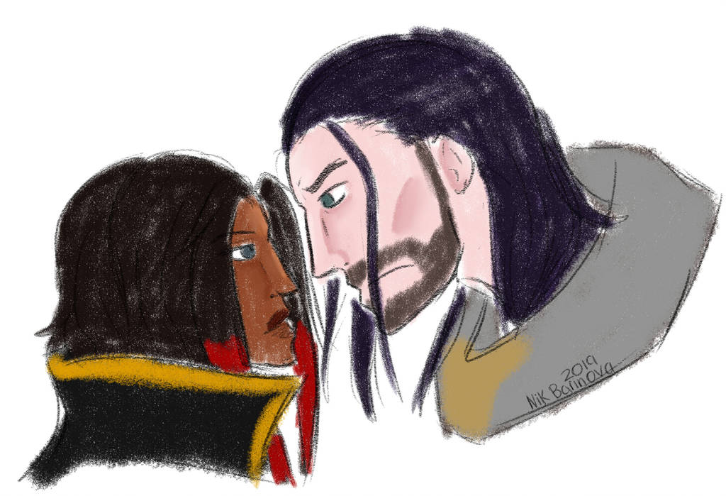 When two anarchists meet (Sylas x Zoey doodle) by NikBarinova