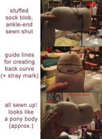 body - pony plush prototyping process WIP by akaikya