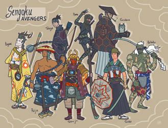 Sengoku Avengers: Full Roster by genesischant