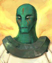 Alien Astronaut by genesischant