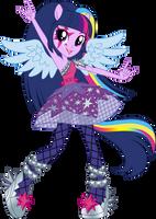 Rainbow Rocks Twilight Sparkle Vector UPDATE V2 by Sugar-Loop