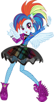 Rockin' Hair Rainbow Dash Vector by Sugar-Loop