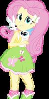 Equestria Girls Fluttershy Vector by Sugar-Loop