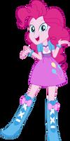 Equestria Girls Pinkie Pie Vector by Sugar-Loop