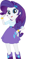 Equestria Girls Rarity Vector by Sugar-Loop