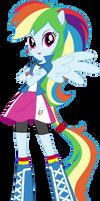 Anthro EQG Rainbow Dash Vector by Sugar-Loop