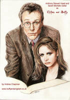 Rupert Giles and Buffy Summers by TheDoThatGirl