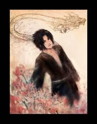 Sasuke Dragon color by Lizeth