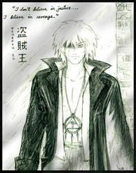 Touzoku - Adult Bakura sketch by Lizeth
