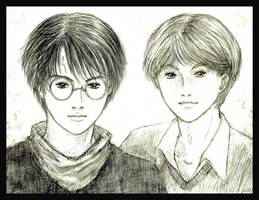 Harry and Ron by Lizeth