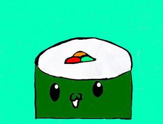 Kawaii Tabemono #1: Sushi by aeriefeeling