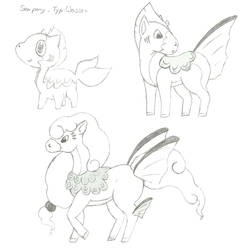 Fakemon Water-Horse by Streify