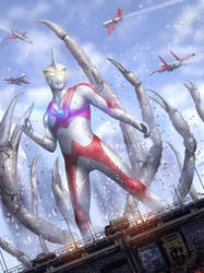 Ultraman Ace Fanart by tekkoontan
