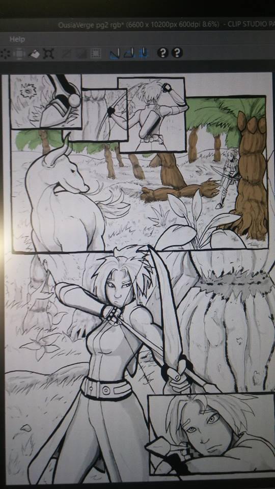 Ousia Verge comic sneak peak 1 by Mekari