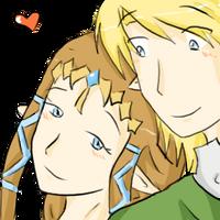Zelda x Link. by SparxPunx