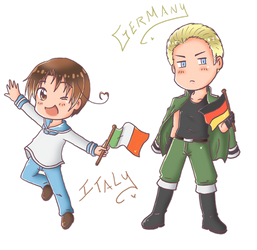 Chibi Italy and Germany by SparxPunx