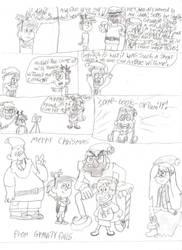 Gravity Falls Chrismas comic storyboard by Bordercollie15