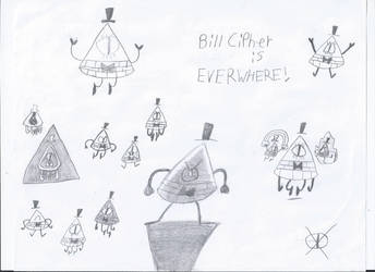 Bill Cipher is EVERYWHERE! by Bordercollie15