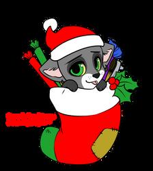 Christmas Lonewolf Chibi *BASE BY LOCKWORKORANGE* by FizzyBoov