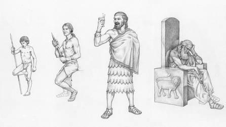 Progress of Gilgamesh by Elandain