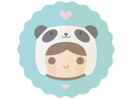 Kawaii Panda Hat by apparate