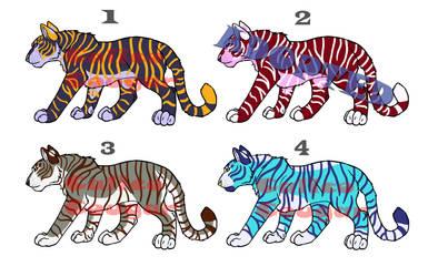 Tiger adoptables (OPEN Price Drop! 2 left!) by CalicoCougar