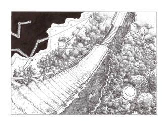 Le pont et les lanternes by TheMaxxy