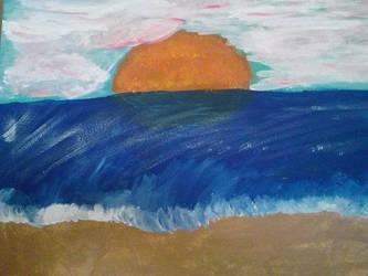 Beach Painting by YukiRiku