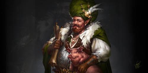 Elves merchant by ViktoriiaVovchuk for workplace - by VikiGrafika