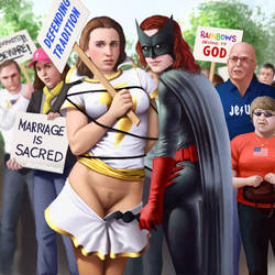 Mary Marvel at the Protest by digitalDefeat