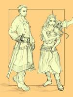 ser Jorah and Daenerys by colgatetotal97
