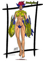 Female version: Brachydios by KukuruyoArt