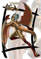 Tigrex monster girl by KukuruyoArt