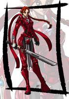 Commission: Lady in armor by KukuruyoArt